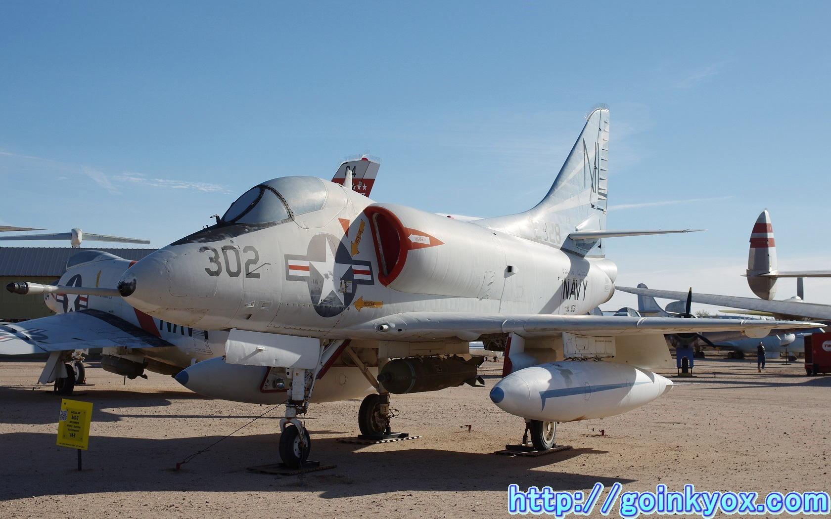 A4D-2スカイホーク RA-5Cヴィジランテ A-6Eイントルーダー... ピマ航空宇宙博物館