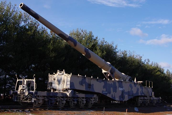 アバディーン戦車博物館のK5列車砲「レオポルド」