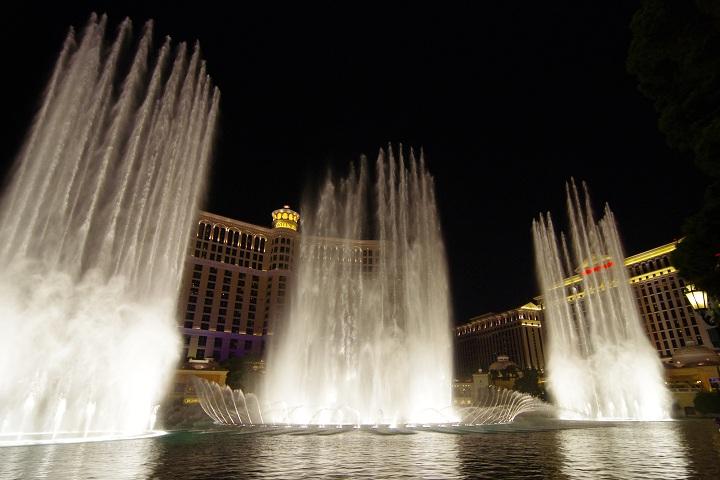 ラスベガス ベラージオの噴水ショー
