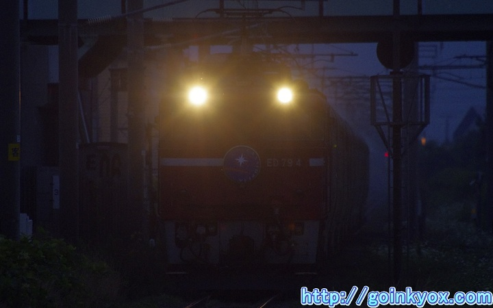 カシオペア下り七重浜駅通過