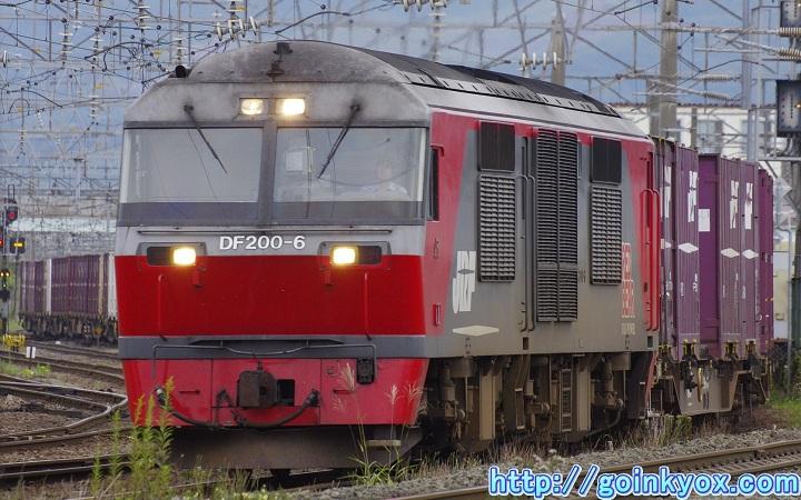 DF200牽引貨物列車 五稜郭駅近辺