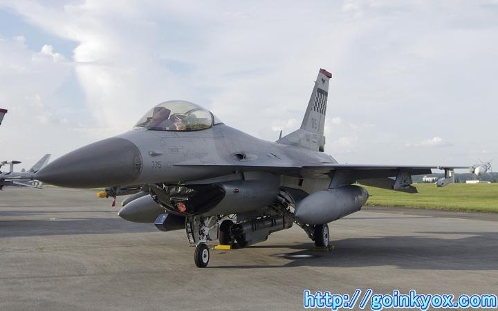2012年横田基地フレンドシップでーにて撮影したF-16C