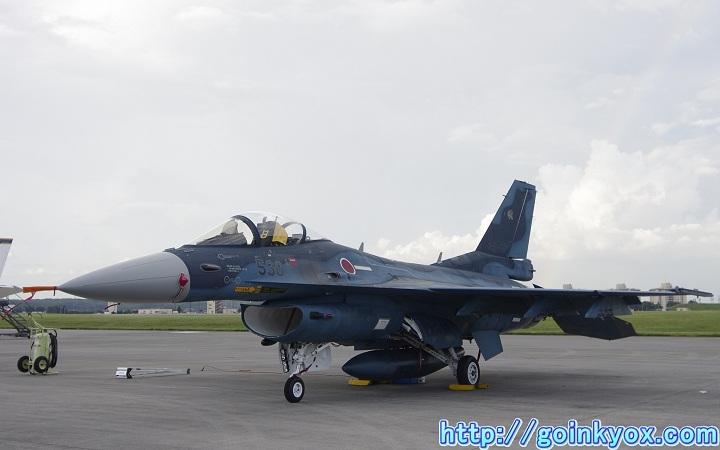 2012年横田基地フレンドシップでーにて撮影したF-2A支援戦闘機